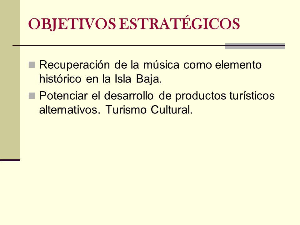 Recuperación de la música como elemento histórico en la Isla Baja. Potenciar el desarrollo de productos turísticos alternativos. Turismo Cultural. OBJ