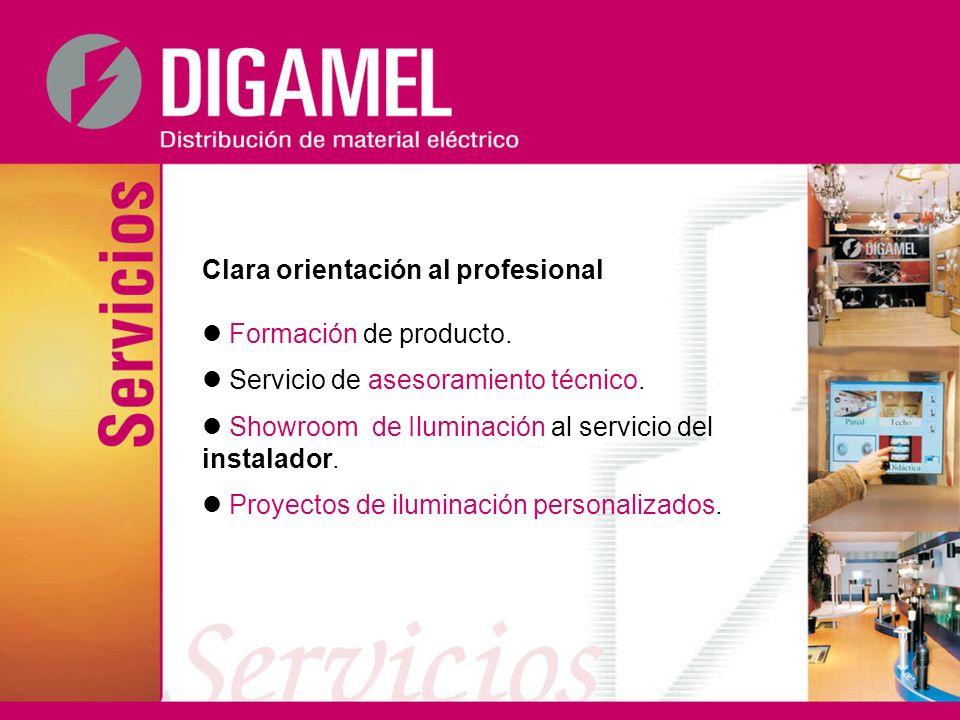 Clara orientación al profesional Formación de producto. Servicio de asesoramiento técnico. Showroom de Iluminación al servicio del instalador. Proyect