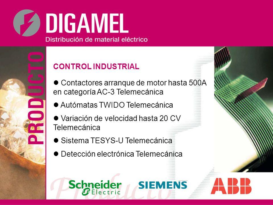 CONTROL INDUSTRIAL Contactores arranque de motor hasta 500A en categoría AC-3 Telemecánica Autómatas TWIDO Telemecánica Variación de velocidad hasta 2