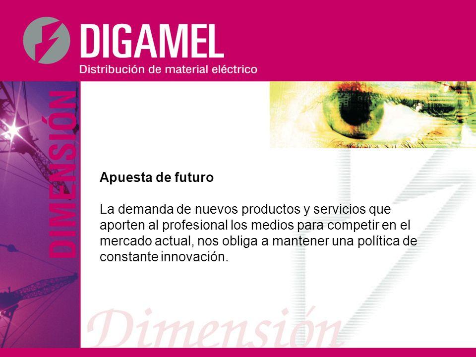 Apuesta de futuro La demanda de nuevos productos y servicios que aporten al profesional los medios para competir en el mercado actual, nos obliga a ma