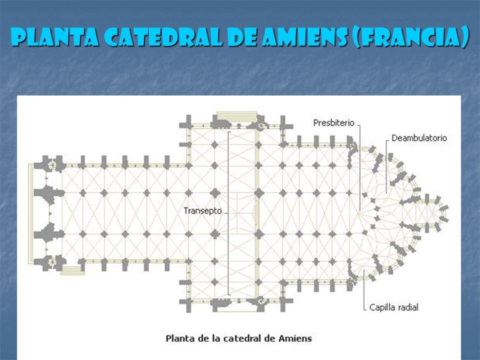 Planta Catedral de Amiens (Francia)