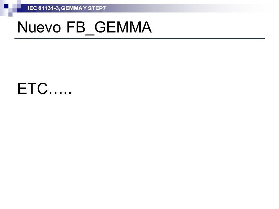 IEC 61131-3, GEMMA Y STEP7 Nuevo FB_GEMMA ETC…..