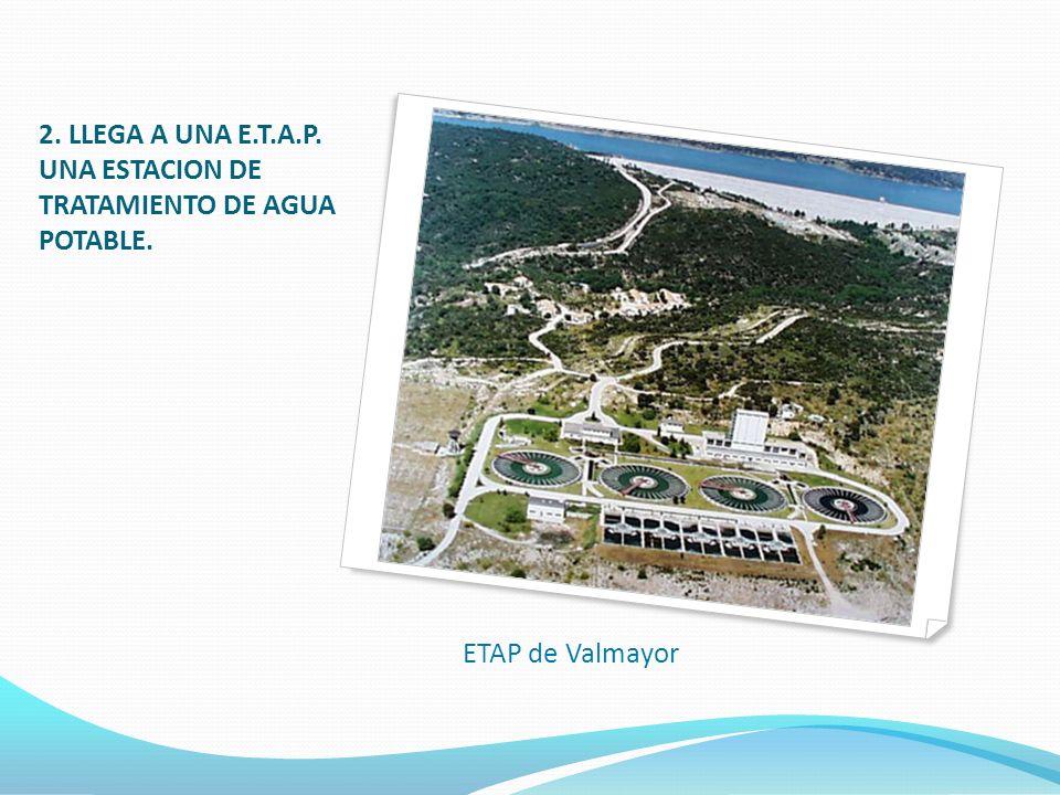 2. LLEGA A UNA E.T.A.P. UNA ESTACION DE TRATAMIENTO DE AGUA POTABLE. ETAP de Valmayor
