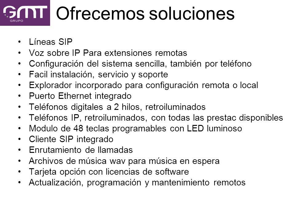 Líneas SIP Voz sobre IP Para extensiones remotas Configuración del sistema sencilla, también por teléfono Facil instalación, servicio y soporte Explor