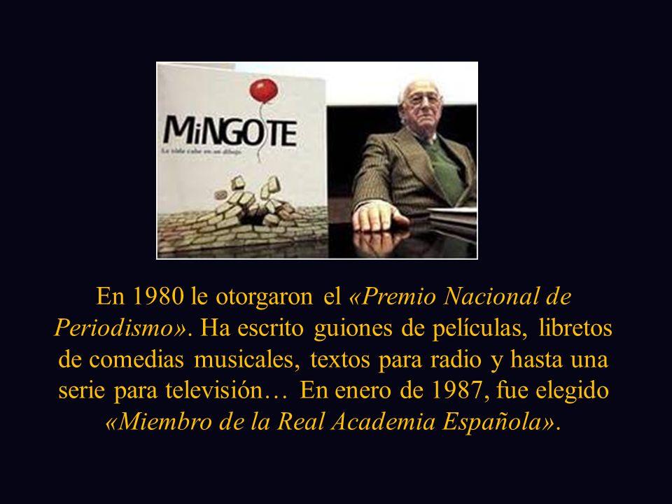 En 1980 le otorgaron el «Premio Nacional de Periodismo».