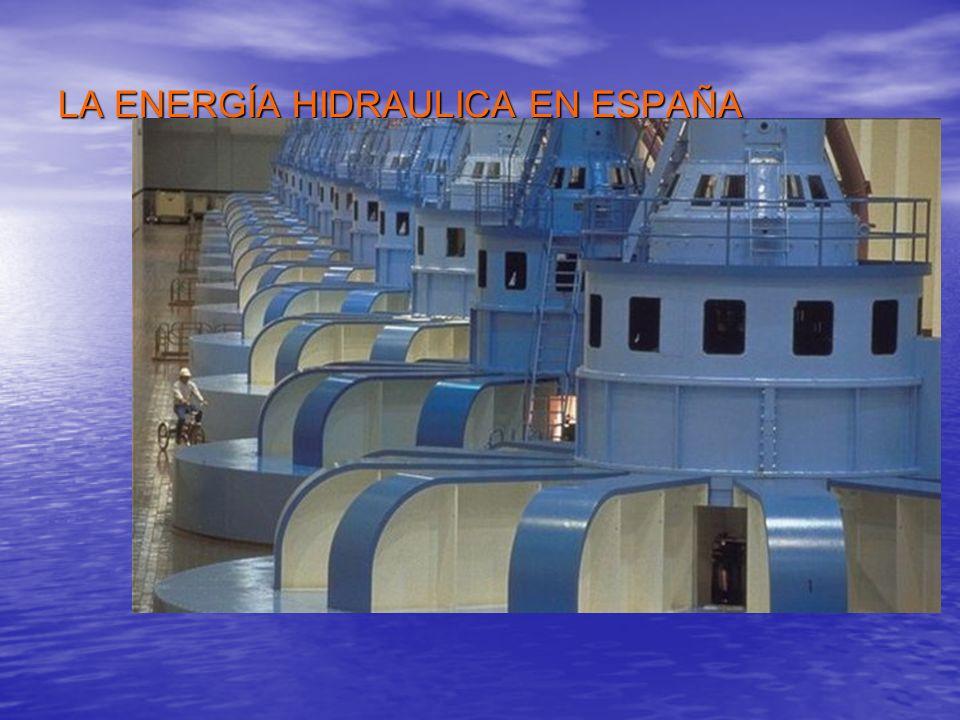 LA ENERGÍA HIDRAULICA EN ESPAÑA Las características de nuestra geografía hacen que España sea un país de gran riqueza hidroeléctrica. Las característi