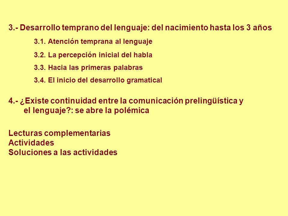 1.- Comunicación y lenguaje