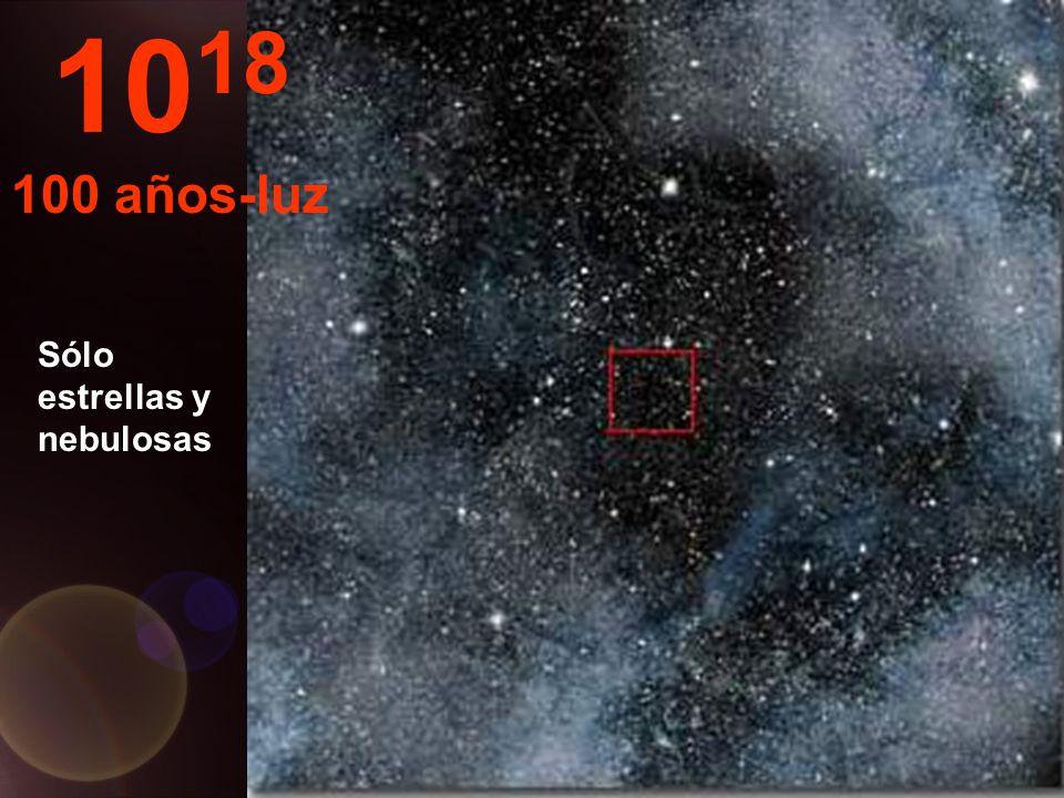 Aquí sólo vemos estrellas en el infinito... 10 17 10 años-luz
