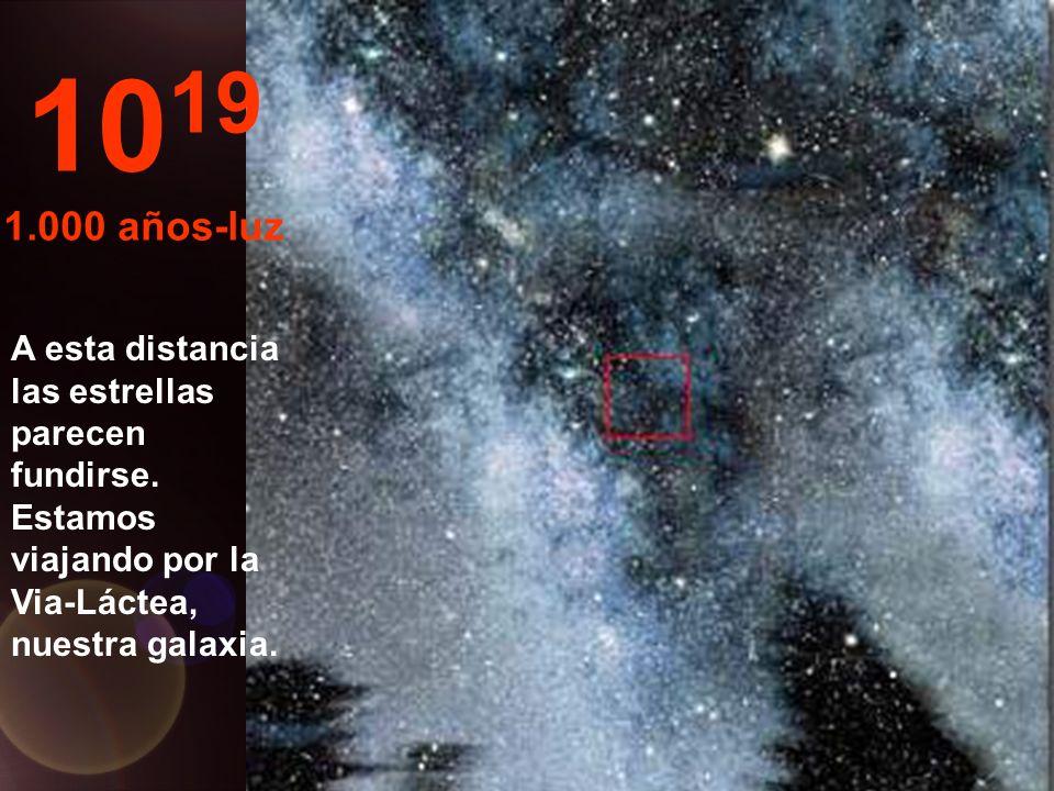 Sólo estrellas y nebulosas 10 18 100 años-luz