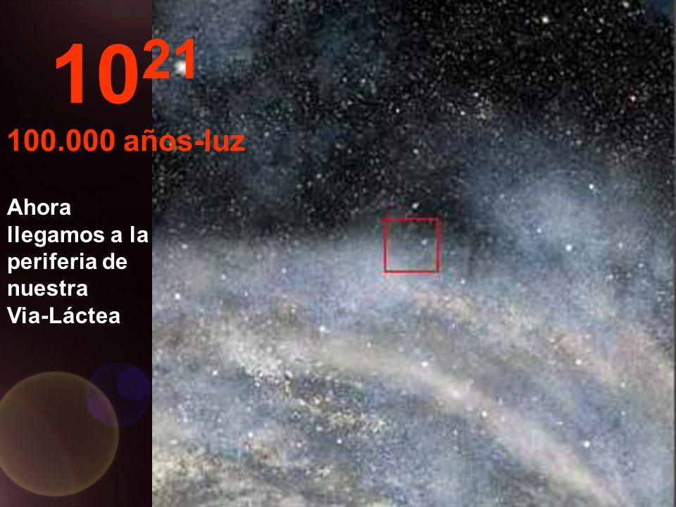 Continuamos nuestro viaje dentro de la Via-Láctea. 10 20 10.000 años-luz