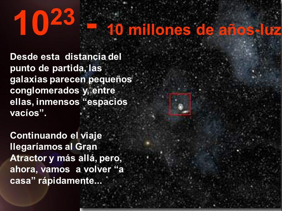 Desde esta inmensa distancia podemos ver toda la Via-Láctea y también otras galáxias...