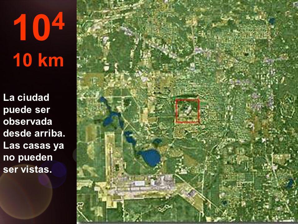 Aquí pasamos de metros a km... Ya es posible saltar en paracaídas... 10 3 1 km