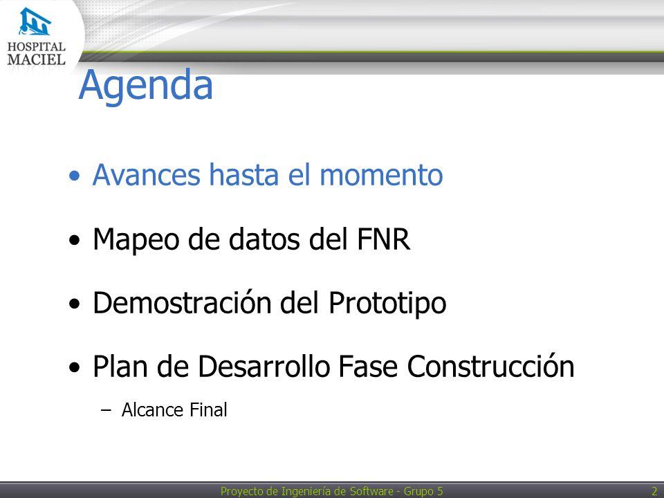Proyecto de Ingeniería de Software - Grupo 5 13 Demostración del Prototipo DEMO