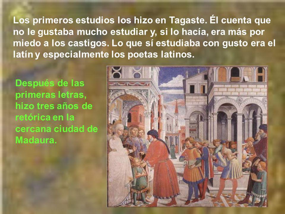 Desde que Agustín era niño, Mónica le iba enseñando a orar, instruyéndole en la fe. Le introdujo en el catecumenado con el fin de que fuese bautizado;