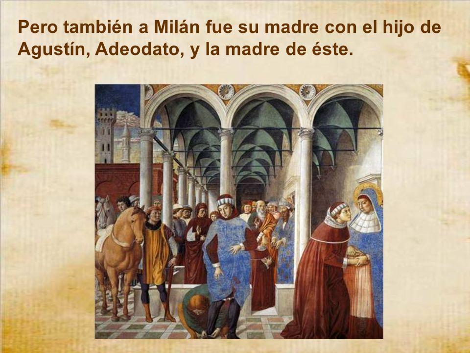 En Milán, que era entonces la capital del imperio, solicitaban un profesor de retórica. Agustín pidió el puesto y le fue concedido. Hacia allí se marc