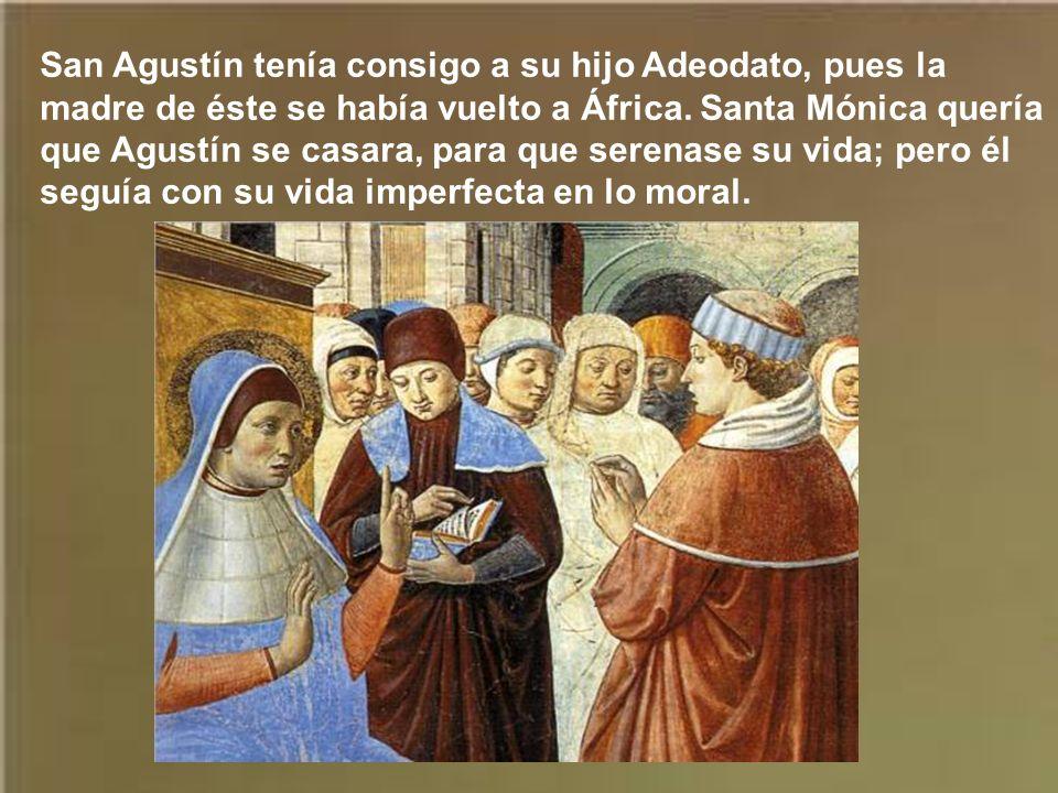 Agustín quedó impresionado por la erudición del obispo san Ambrosio. Asistía frecuentemente a sus sermones para deleitarse con su elocuencia. Notaba q