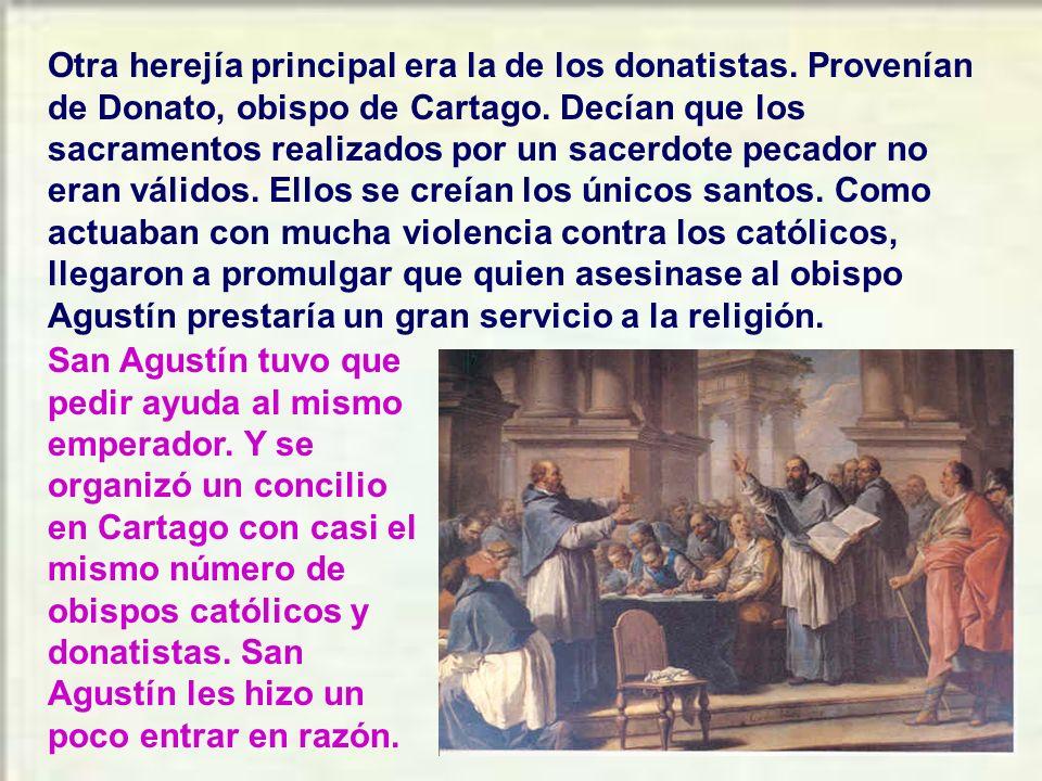 En sus 35 años como obispo, san Agustín tuvo que defender la fe contra muchas herejías. Una de ellas era la de los maniqueos, a la cual perteneció y q