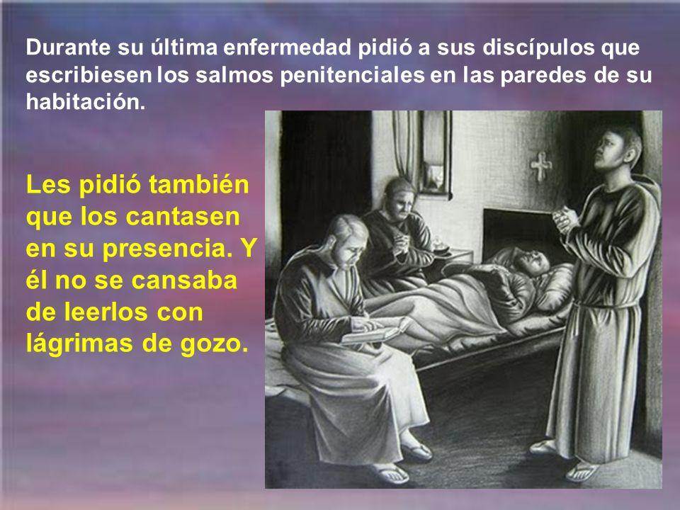 San Agustín cayó presa de la fiebre y comprendió que se acercaba la hora de la muerte. Había hablado en sus sermones muchas veces sobre la muerte. Aho