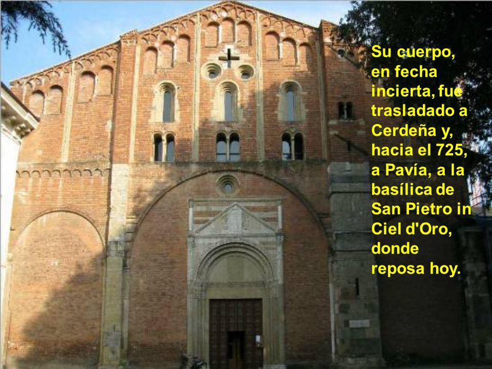 Solamente unos pocos meses después de su muerte, el Papa Celestino I rendía homenaje a la santa memoria de aquel sobre quien jamás ha caído la menor s