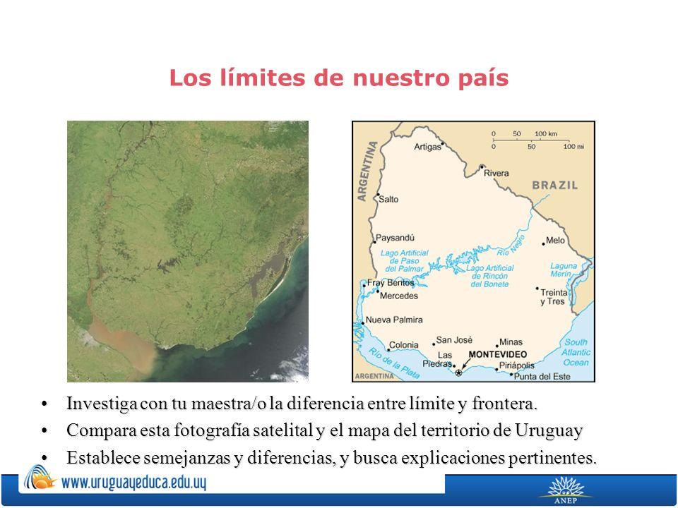 Los límites de nuestro país Investiga con tu maestra/o la diferencia entre límite y frontera.Investiga con tu maestra/o la diferencia entre límite y f