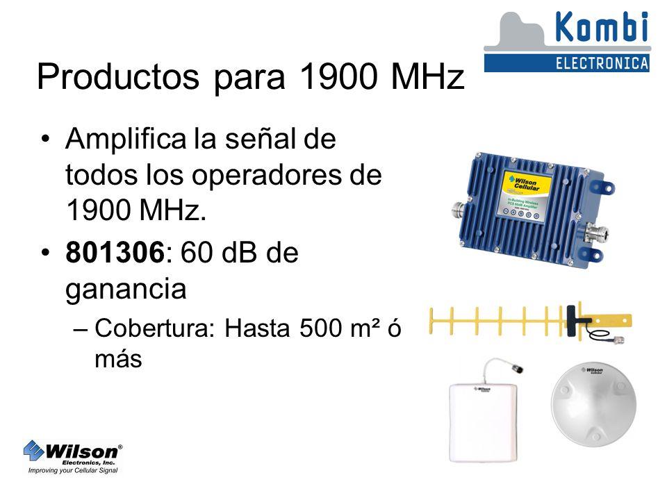 Productos para 1900 MHz Amplifica la señal de todos los operadores de 1900 MHz.