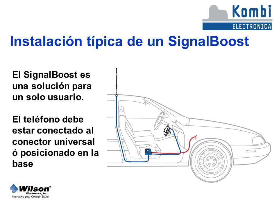 Instalación típica de un SignalBoost El SignalBoost es una solución para un solo usuario.