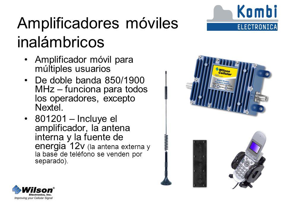 Amplificadores móviles inalámbricos Amplificador móvil para múltiples usuarios De doble banda 850/1900 MHz – funciona para todos los operadores, excepto Nextel.