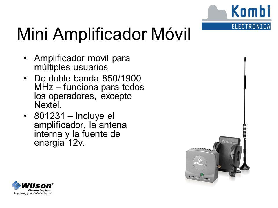 Mini Amplificador Móvil Amplificador móvil para múltiples usuarios De doble banda 850/1900 MHz – funciona para todos los operadores, excepto Nextel.