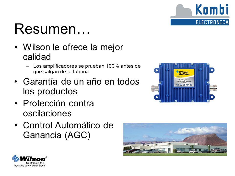 Resumen… Wilson le ofrece la mejor calidad –Los amplificadores se prueban 100% antes de que salgan de la fábrica.