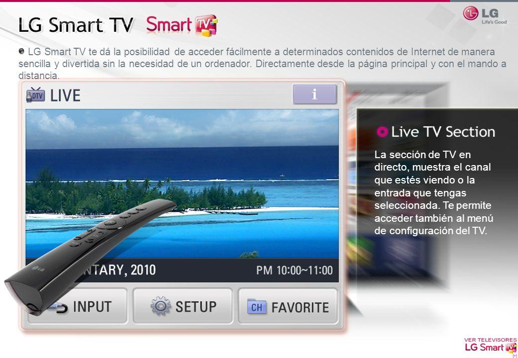 LG Smart TV te dá la posibilidad de acceder fácilmente a determinados contenidos de Internet de manera sencilla y divertida sin la necesidad de un ord