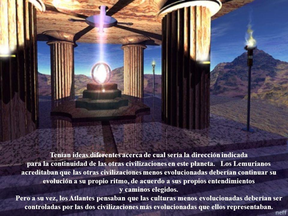 Tenían ideas diferentes acerca de cual sería la dirección indicada para la continuidad de las otras civilizaciones en este planeta.