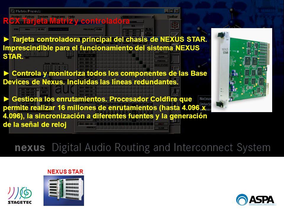 NEXUS STAR RCX Tarjeta Matriz y controladora Tarjeta controladora principal del chasis de NEXUS STAR. Imprescindible para el funcionamiento del sistem