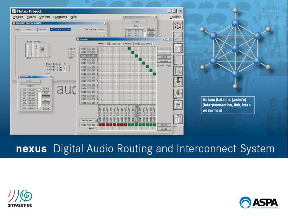 SOFTWARE NEXUS STARNEXUS MESAS DE MEZCLAS Procesado por canal configurable por módulos.