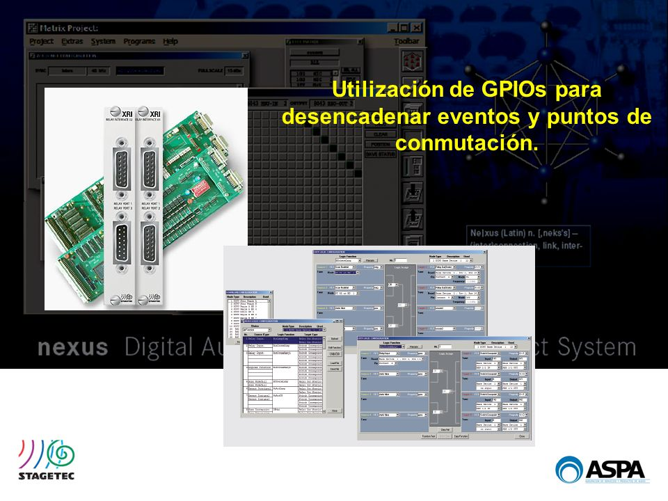 Utilización de GPIOs para desencadenar eventos y puntos de conmutación.