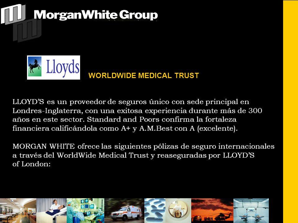 WORLDWIDE MEDICAL TRUST LLOYDS es un proveedor de seguros único con sede principal en Londres-Inglaterra, con una exitosa experiencia durante más de 300 años en este sector.