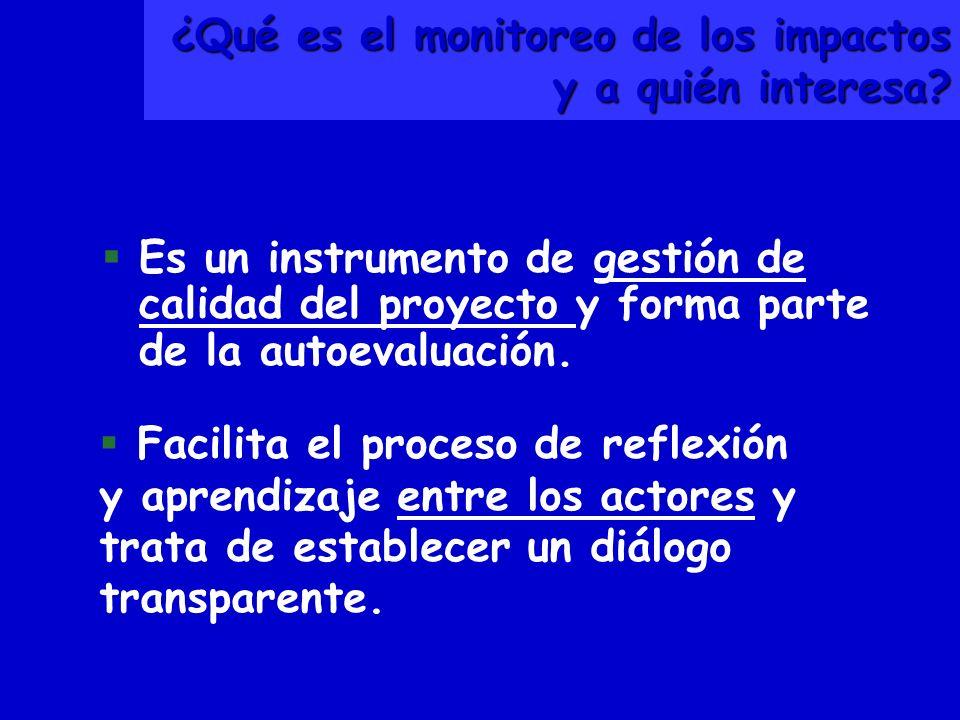 ¿Qué es el monitoreo de los impactos y a quién interesa.