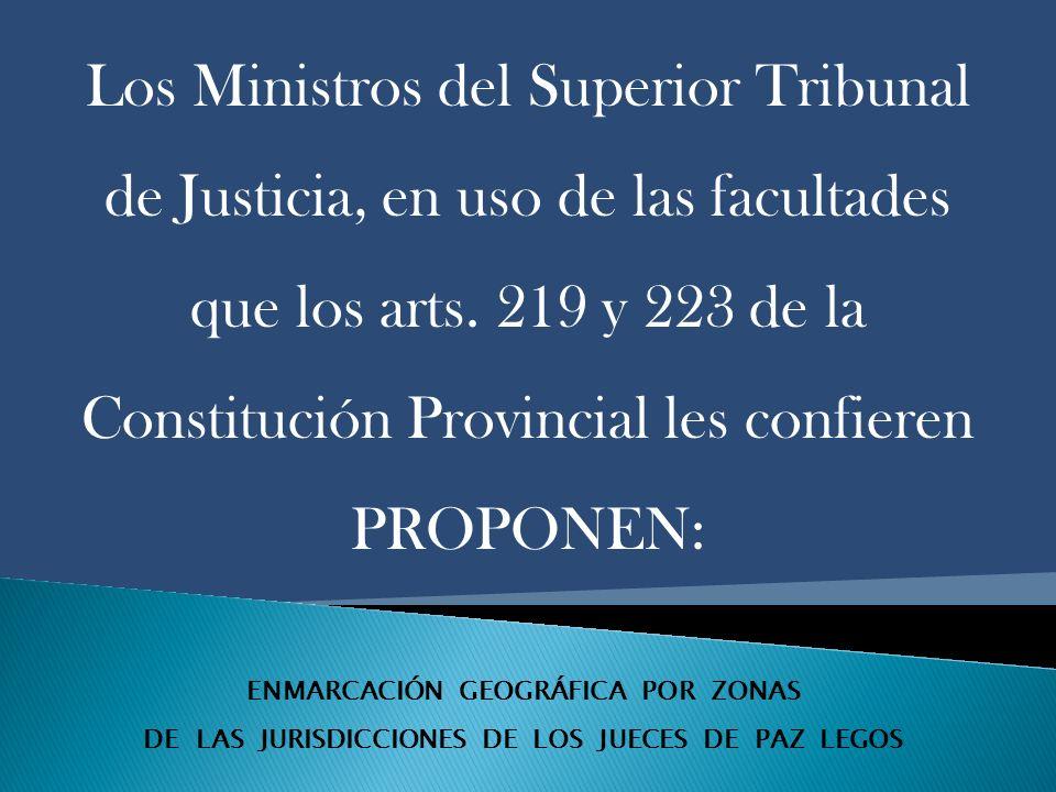 ENMARCACIÓN GEOGRÁFICA POR ZONAS DE LAS JURISDICCIONES DE LOS JUECES DE PAZ LEGOS