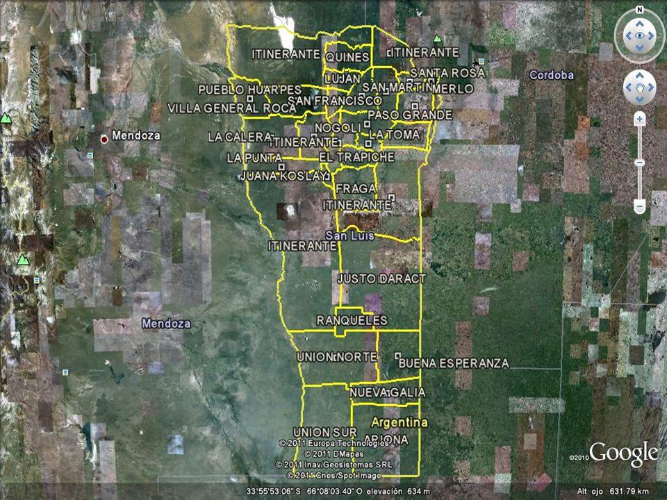 ENMARCACIÓN GEOGRÁFICA POR ZONAS DE LAS JURISDICCIONES DE LOS JUECES DE PAZ LEGOS ZONA ITINERANTE CON ASIENTO EN SAN MARTIN Desde coordenada 3529444.36,6431437.70 por el límite norte y este del departamento San Martin hasta la coordenada 3554386.08,6374369.23; por la ruta provincial 40 hasta la coordenada 3535316.95,6384294.35; por ruta provincial 2 hasta coordenada de inicio.