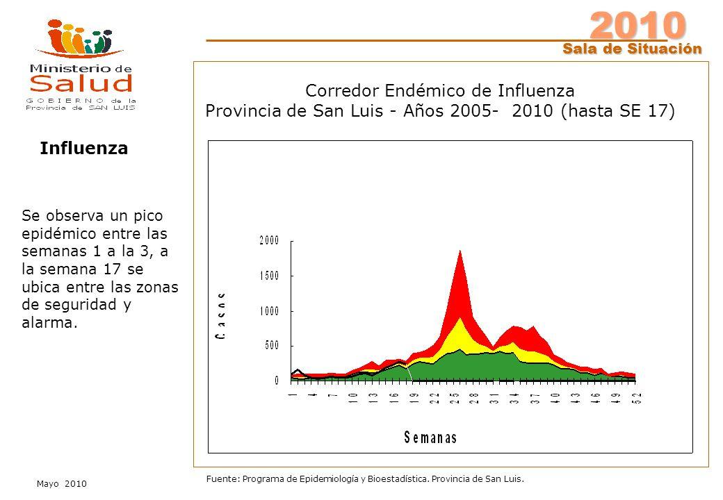 2010 Sala de Situación Mayo 2010 Fuente: Programa de Epidemiología y Bioestadística.