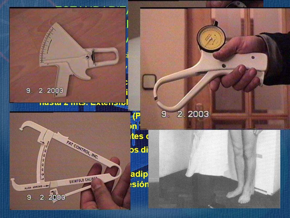 Sencillo, preciso y de fácil manejo. Tallímetro. (Estatura y Talla sentado). Precisión 1mm. ESTANDARIZACIÓN DE MEDIDAS ANTROPOMÉTRICAS. Material Antro