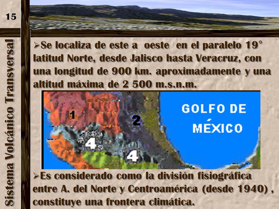 Sierra Madre del Sur Su proximidad con el océano Pacifico propició la formación de bahías como las de: Acapulco y Zihuatanejo. Su proximidad con el oc