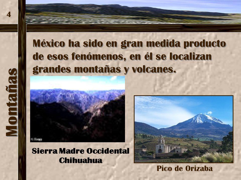 MontañasMontañas 3 Son el resultado de procesos y fenómenos geológicos, como la actividad volcánica y el diastrofismo (plegamientos y fallas), derivad