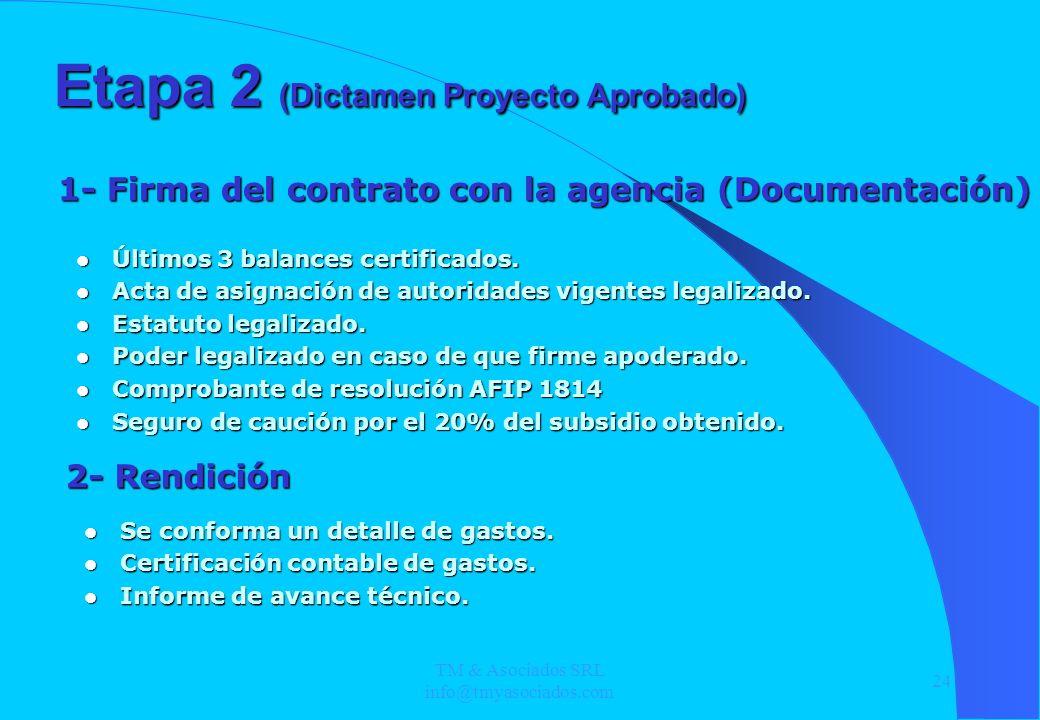 TM & Asociados SRL info@tmyasociados.com 24 Últimos 3 balances certificados. Últimos 3 balances certificados. Acta de asignación de autoridades vigent