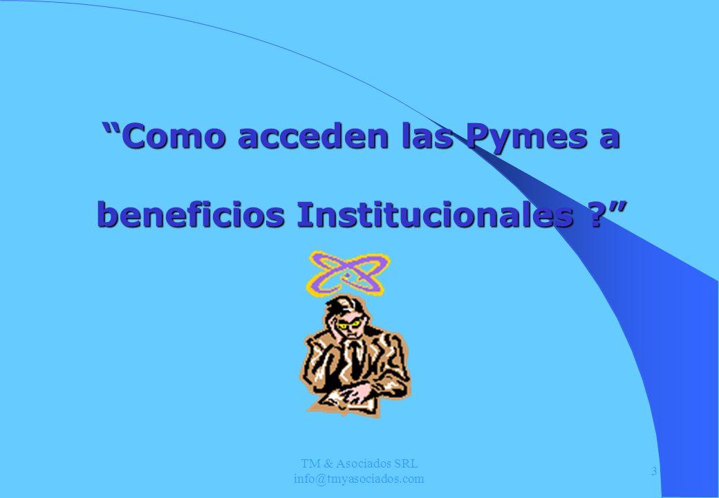 TM & Asociados SRL info@tmyasociados.com 14 Crédito Fiscal Proyectos de Investigación y desarrollo.