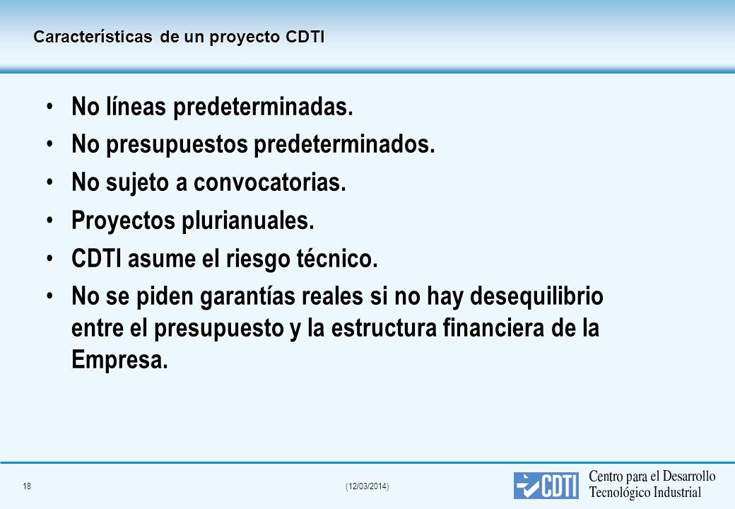 17(12/03/2014) ¿Cuándo recibe el dinero el empresario? Se dispondrá parcialmente del crédito al cumplimiento técnico y económico de los hitos o fases