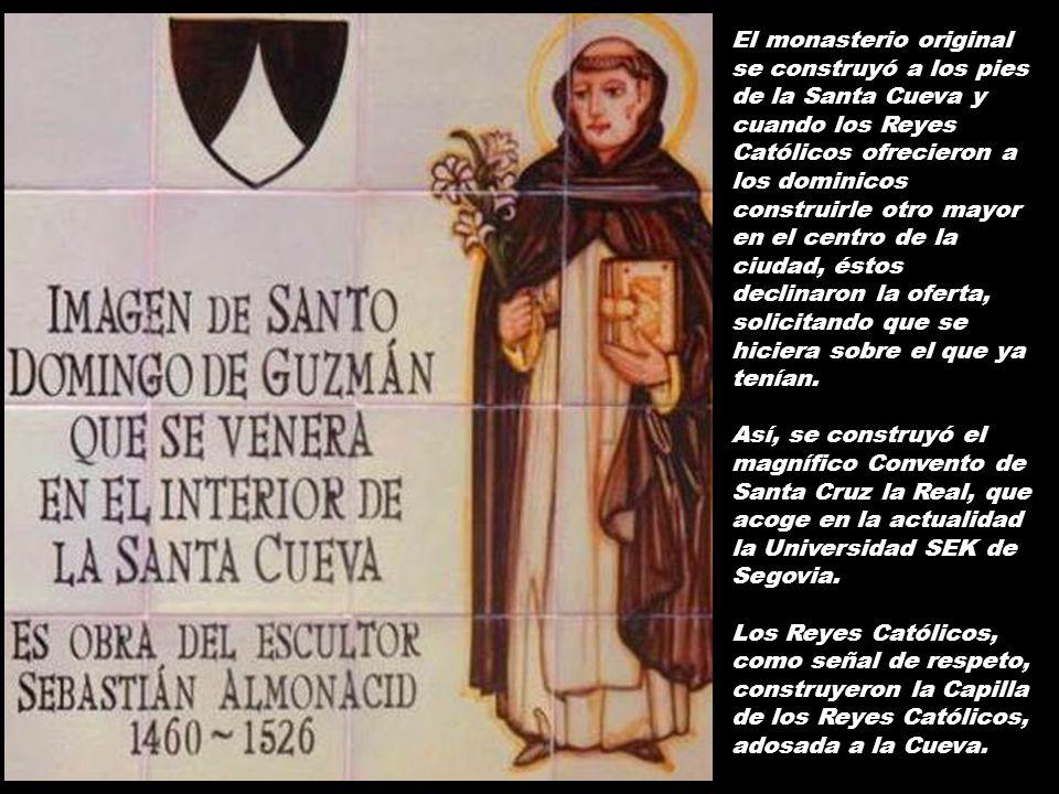 A finales de 1218, llega Santo Domingo a Segovia, permaneciendo en la localidad hasta febrero de 1219. Aunque inicialmente se alojó también en una viv