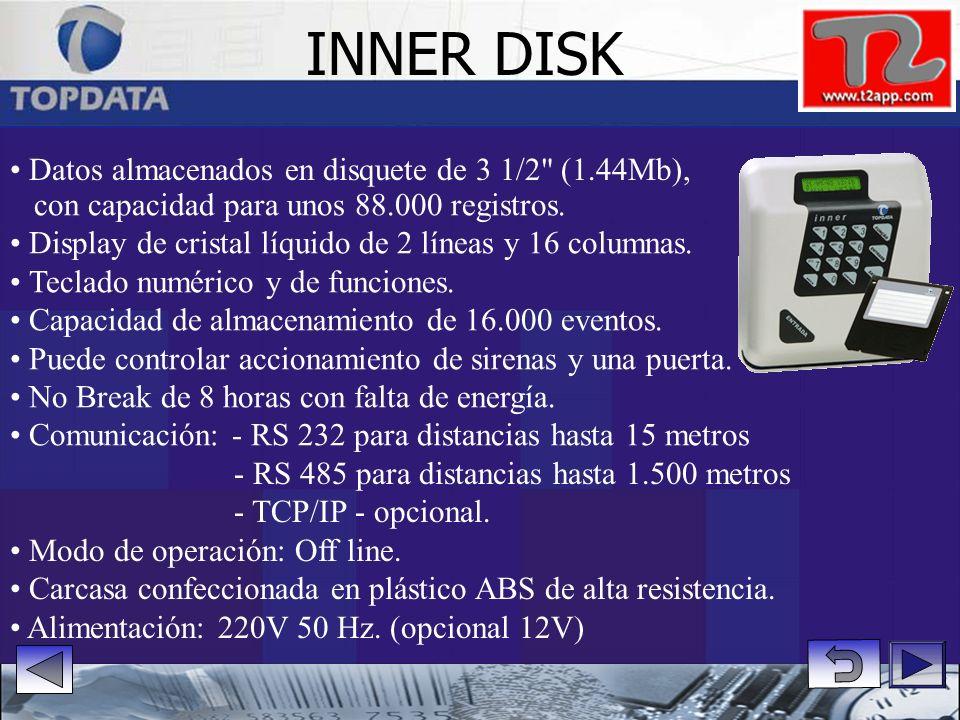 Sensor ótico para verificación de huella dactilar Modo de operación 1:1, o sea, con el uso de una tarjeta de identificación. Puede controlar puertas,