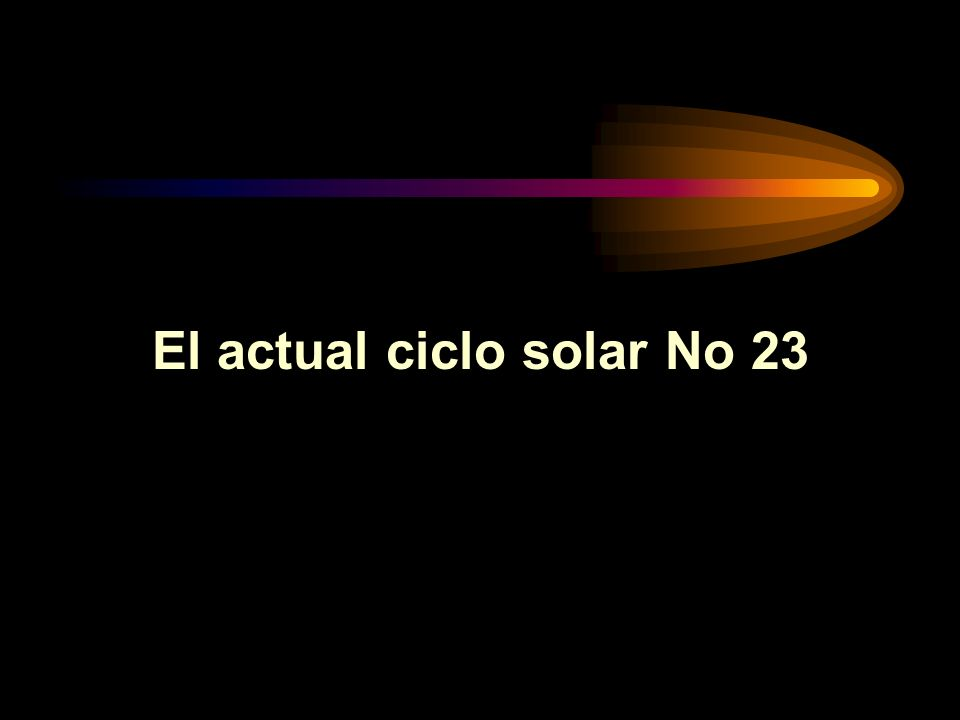 El actual ciclo solar No 23