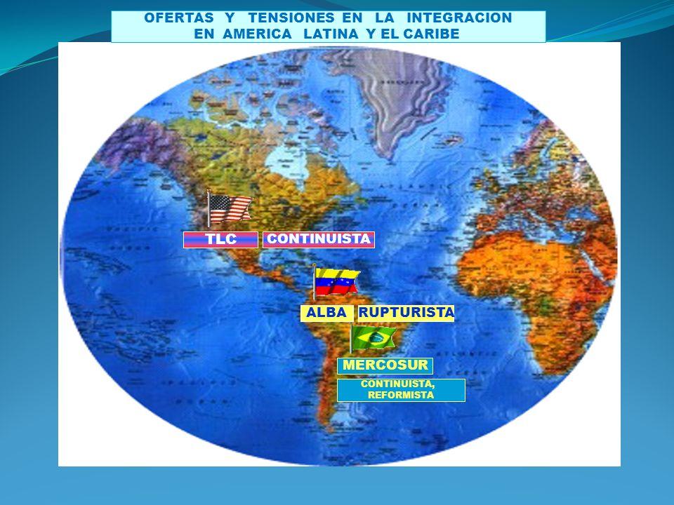 TLC CONTINUISTA MERCOSUR CONTINUISTA, REFORMISTA ALBARUPTURISTA OFERTAS Y TENSIONES EN LA INTEGRACION EN AMERICA LATINA Y EL CARIBE