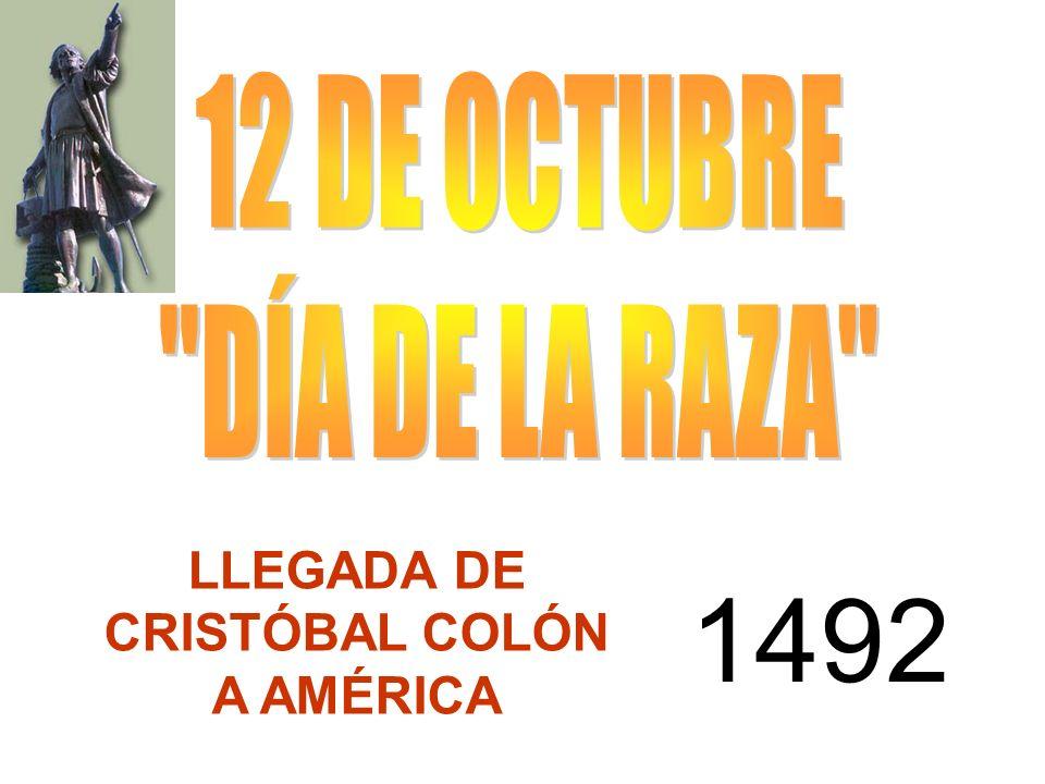 LLEGADA DE CRISTÓBAL COLÓN A AMÉRICA 1492